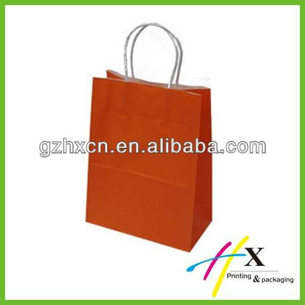 Solid color paper packaging bag for toilet paper