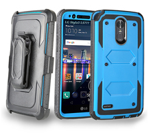 shockproof 4 in 1 Belt Clip Rotating 360 degree rugged armor case for LG Stylo 3 LS777