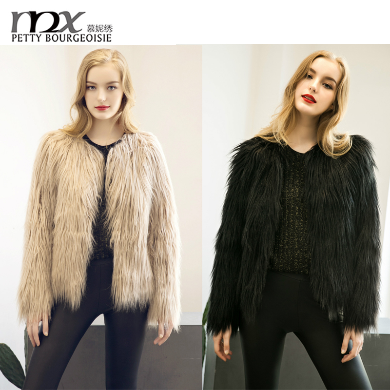 Woman clothes 2016 winter midi fox fur coat mink coat