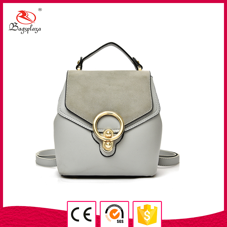 Fashion PU cc48-014 women backpack with flap smooth backpack durable