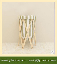 Home Decorators Hot Sale Wood Frame Round Clothes Laundry Hamper