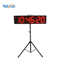6 digit 6 inch LED digita ldouble sided wall race clock
