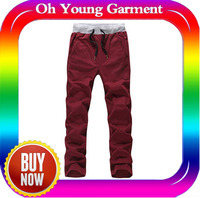 2014 100% cotton cheap mens cargo trousers men latest design cotton pants