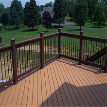 WPC boat deck floor covering two sides have different colors mixed color decking side cover