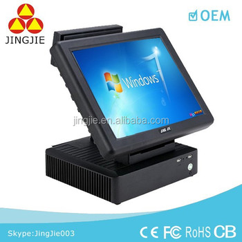 Top sale 15 Inch Flat screen waterproof retail pos system