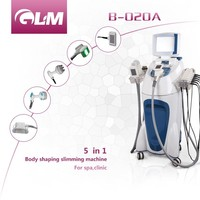 2016 GLM best selling V9 valeshape rf laser cavitation cooling beauty 5 in 1 machine for sale