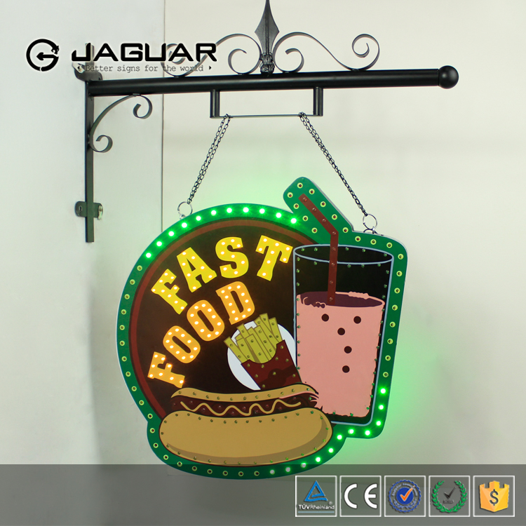 Fast food restaurant wall hanging advertising led signboard light box
