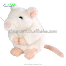 plush mouse toy stuffed white mouse toy