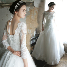 C71724A China Custom Made Long Sleeve A-line Wedding Dresses 2016