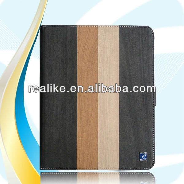 Couple color wooden leather case for ipad air,new design 2014