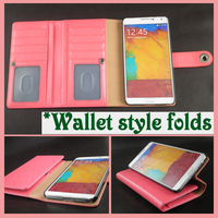 unique phone cases for samsung galaxy note 2 for note 4 wallet case with many card slots for note 3 leather phone case