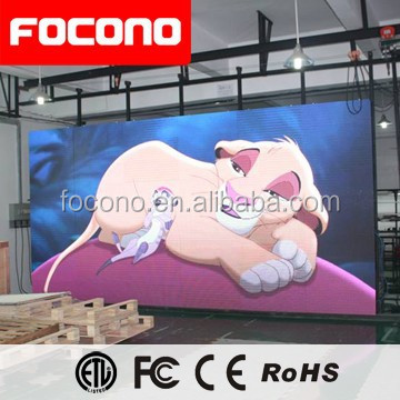 Focono 10mm Advertising Indoor Led Large Screen Display Smd Outdoor P10 Led Display