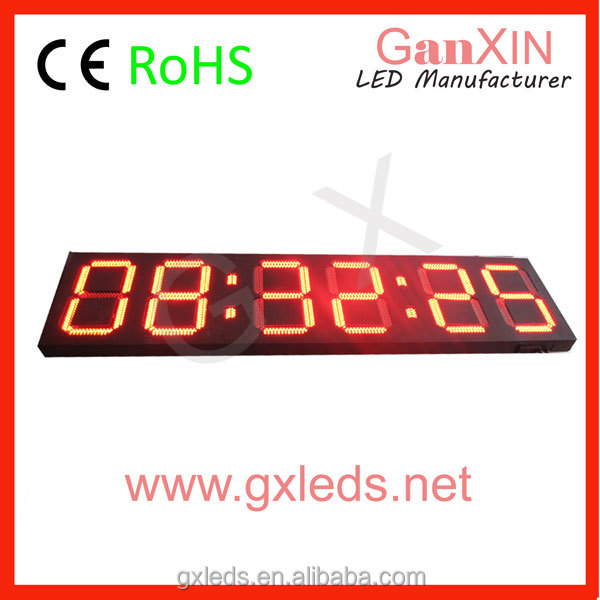 airport led screen large digital clock with temperature sensor