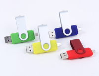 MIxed color Swivel Metal Rotation style 8g OTG Usb Flash drive for smartphone&PC logo custmized