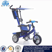 2016 shanghai fair baby tricycle/mother control kids tricycle with sunshade/baby double trike