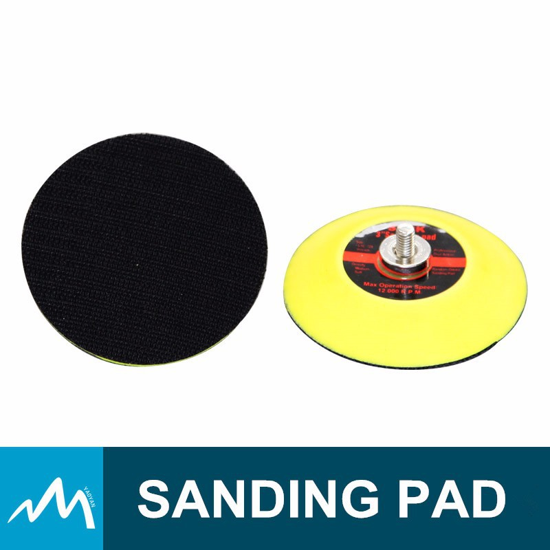 3 Inch hook loop Backing Sanding Pad For Air Sander