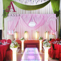 wholesale Fashion show for bridal stage decoration classic wedding backdrop