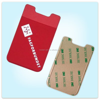 New fashion cell phone card case , customized mobile phone card earphone holder , promotion 3m sticker phone wallet