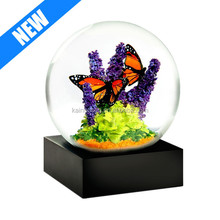 nice style custom hand painted resin butterfly water globe