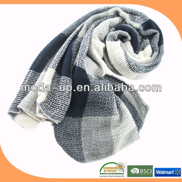 Knitted acrylic scarf/ scarf fabric/ scarf women