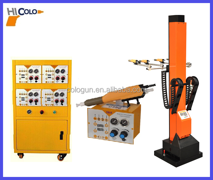 Automatic powder spray equipment reciprocator