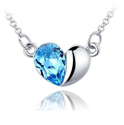 2017 YIWU High Quality Best Selling Simple Style Love The Crystal Necklace