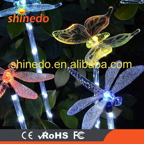 Solar Path Lights Yard Lights Led Lawn Lamp Solar Powered Outdoor Hummingbird Butterfly & Dragonfly Solar Garden Stake Light