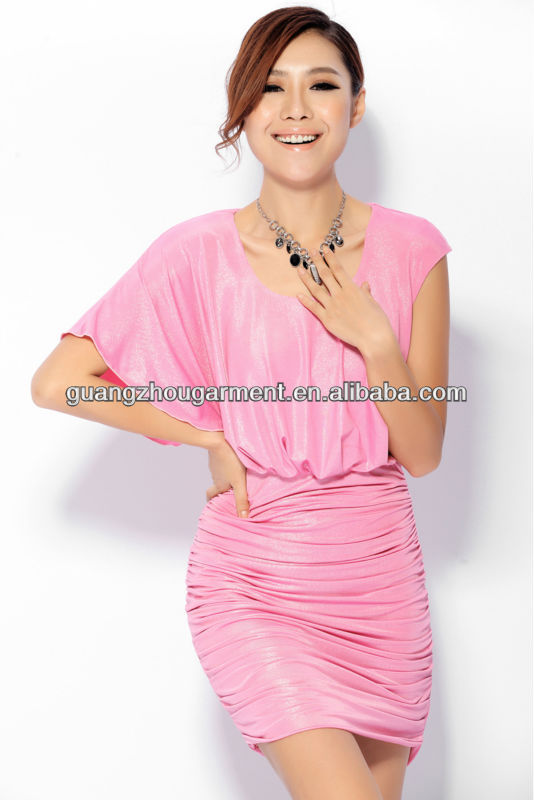 Fashion Romantic Silk Chiffon Roman Folds Dresses