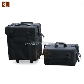 Professional nylon antique cosmetic trolley makeup bag