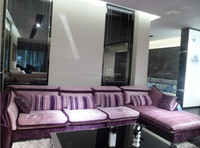 8132 purple fabric sectional sofa furniture for living room
