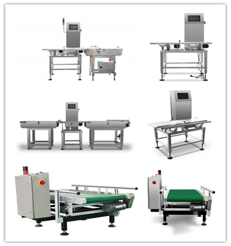 Check weigher conveyor system for packing machine