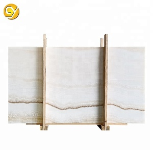 Onyx ivory vein cut tile,Vein cut white onyx marble with cheap price