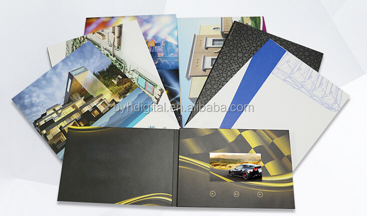 invitation lcd video greeting card recorder ,lcd video brochure card