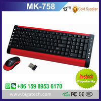 2016 computer colored wireless keyboard and mouse combo with waterproof design