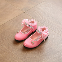 Baby girls princess shoes high quality diamond flowers lace dance shoes