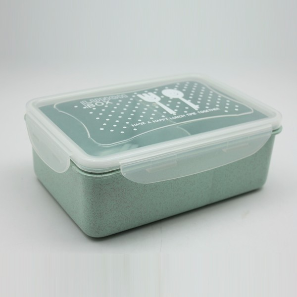 Reusable Leak Proof Wheat Straw Material Degradable Lunch Box . * / ~