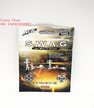 SWAG blister paper card three side seal zipper bag 100% All Natural Herb Extract sex enhancement pills fo men