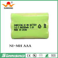 AAA NI-MH Rechargeable Battery Pack 3.6V 300mAh for Rechargeable toy