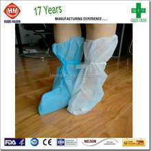 Waterproof PP PE Boot Cover With Elastic Opening And Ties