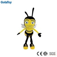 Factory China custom plush bee toy stuffed bee soft toy doll