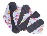 22016 Hot Sale Cloth Pads Bamboo Sanitary Napkin Mama Cloth Reusable Menstrual Pads