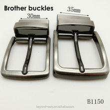 metal turning belt buckle changeable pin buckle brother buckles