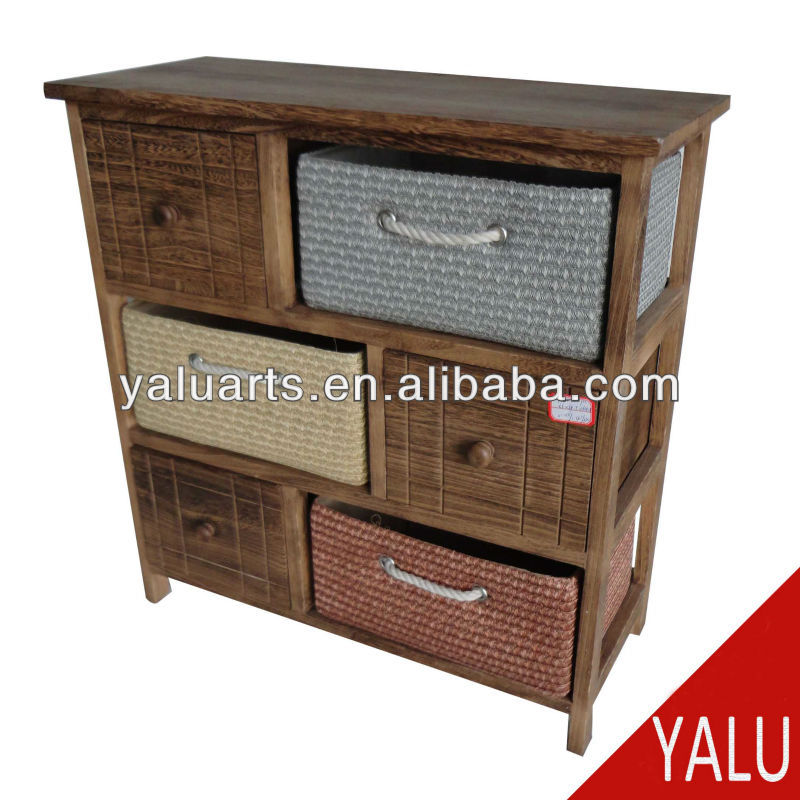 wood drawer chest H-13241