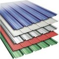 Color coated corrugated steel sheet