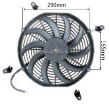 "Universal Auto thermo Fan,13"",curved blade,160w"