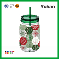 750ml custom logo shaker water bottle and straw and handle