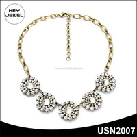YIWU Fashion Jewelry Chokers Statement Necklace