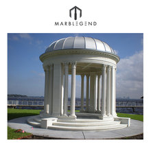 cheap price custom natural stone marble outdoor garden gazebo