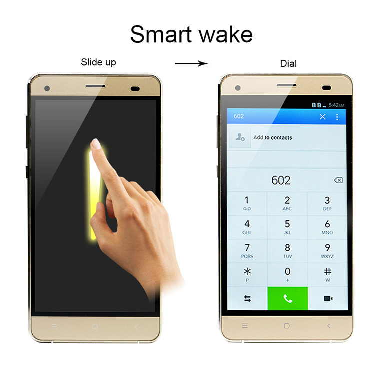 White/Gold/Black Color 5.0 inch OEM mobile phone OEM Android Phones factory with CE License
