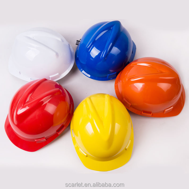 Certification HDPE material construction helmets types of safety helmet specifications for engineers